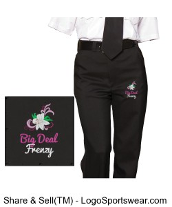 Ladies Flat Front Security Pant Design Zoom